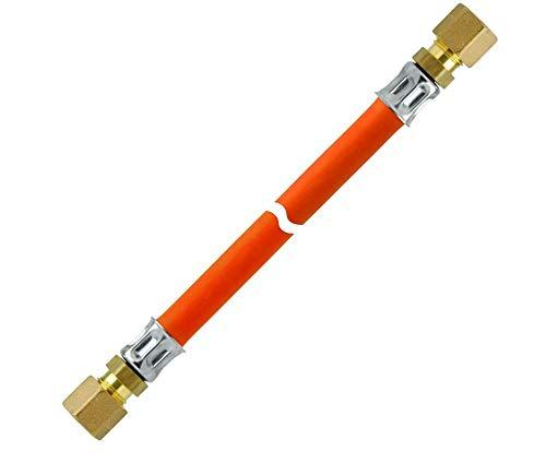 GOK Mitteldruck Propanschlauch korrosionsbeständig bds. RVS 8, Schlauchlänge:RVS 8 x RVS 8 x 60 cm - Rvs Bei