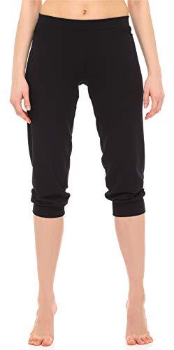 Merry Style Leggings 3/4 Pantaloni Capri Donna MS10-261 (Nero, M)