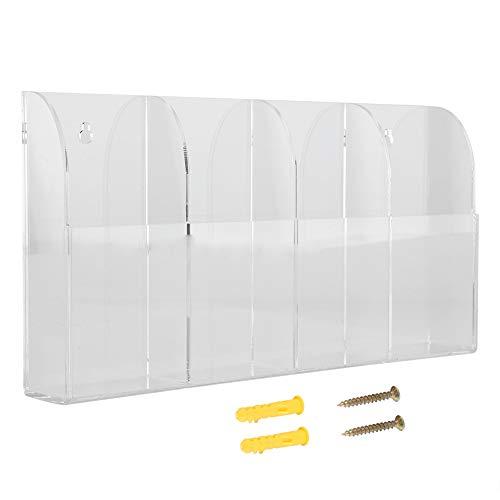 TV Klimaanlage Fernbedienung Halter Wandhalterung Acryl Clear Media Organizer Aufbewahrungsbox Fall mit 4 Grids für Tisch Schreibtisch Nachttisch