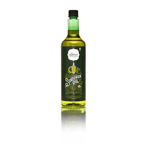 Azafran infusions Cold Pressed Sunflower Oil, 1 Litre