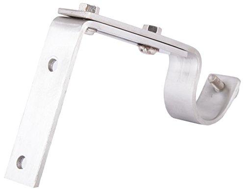 Aavishkar Decors Stainless Steel Wall Mounted Curtain Rod Holding Bracket - Silver