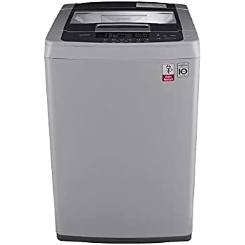 lg 6 5 kg inverter fully-automatic top loading washing machine (t7569nddlh,  middle free silver)