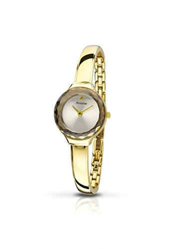 Accurist Women's Quartz Watch with Silver Dial Analogue Display and Gold Plated Stainless Steel Bracelet Lb1478.01
