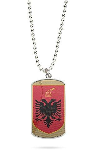 Kette Dog Tag Anhänger Albanien Fahne 12