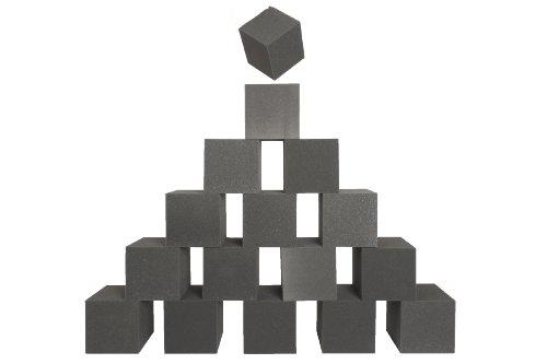 Unbekannt Schaumstoff Würfel 16 Stück je 15x15x15cm Bausteine für Kinder, Dekowürfel, Therapiehilfe etc.