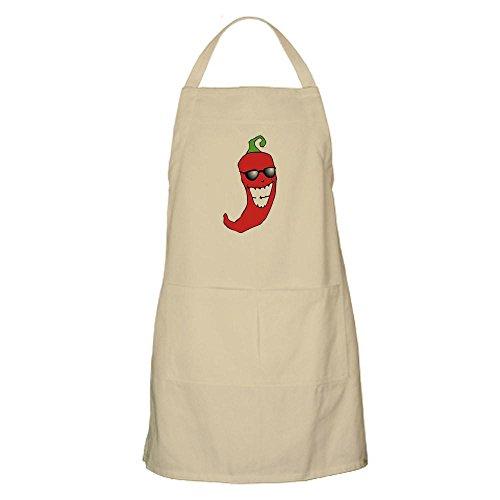 CafePress Grillschürze Cool Chili Pfeffer BBQ Grillschürze Khaki