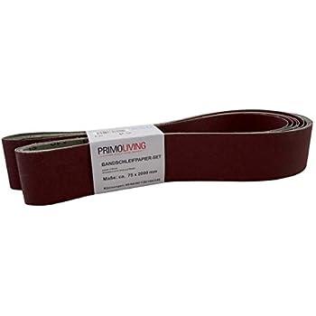 VSM 0007687360060 Schleifband 75 x 2000 mm Zirkon-Korund-K/örnung 60 f/ür Metall