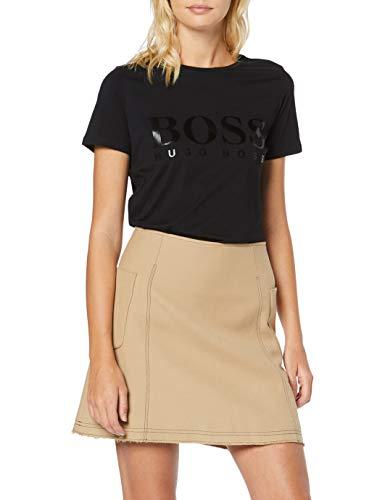 BOSS Damen Tefoil T-Shirt, Schwarz (Black 001), X-Large (Herstellergröße: XL)