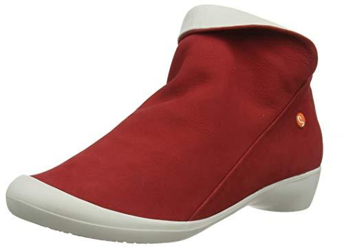 Softinos Damen Farah Stiefeletten, Rot (Lipstick RED/Offwhite 566), 36 EU Leder Stiefel