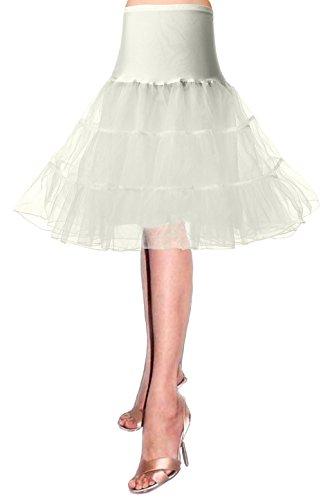 50er Petticoat Unterrock Jahre krinoline hoopless Kleid tutu Petticoat kleid 50s tüllrock kinder rockabilly net petticoat skirt Crinoline Vintage Retro Mehreren Farben Röcke Swing pin up ()