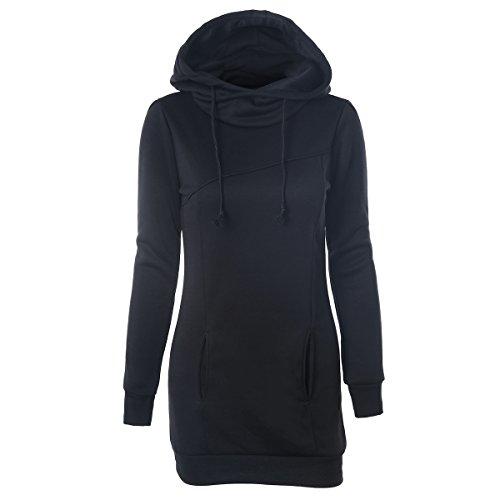 iMELY Damen Kaputzenpullover Hoodie Pullover Sweatshirt Langärmelig Pocket Kaputzen Outerwear für Frühling Herbst