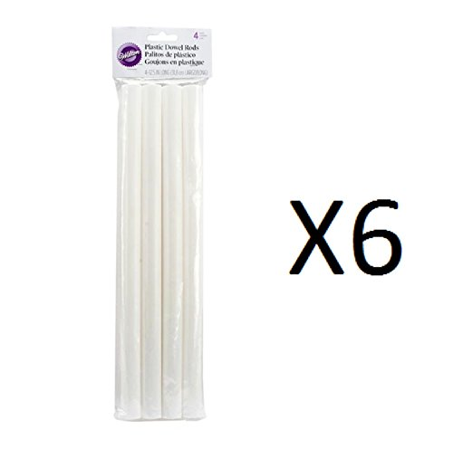 Wilton Dowel Rods White 4 Pack Heavy Duty Hollow 12.75