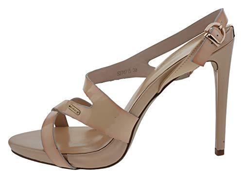 Big Star s274715 Lackleder Sandalette beige rosa, Groesse:39 Big Star Schuhe