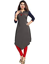 ALC Creation Women's Faux Crepe A-Line Kurti