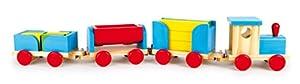 Legler - Juego de construcción Cubos Tren de Madera, para +3 años (1181)