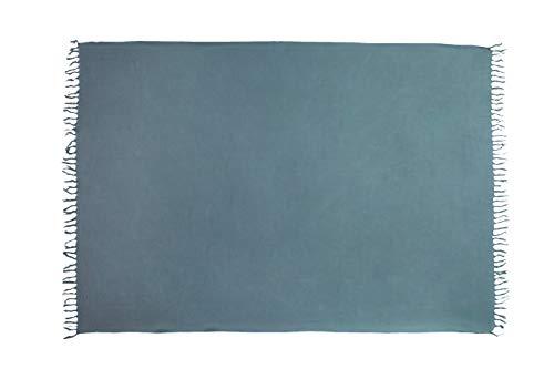 Ciffre Premium Sarong Pareo Wickelrock Strandtuch Lunghi Dhoti Schlicht Blickdicht Einfarbig Dunkel Grau -