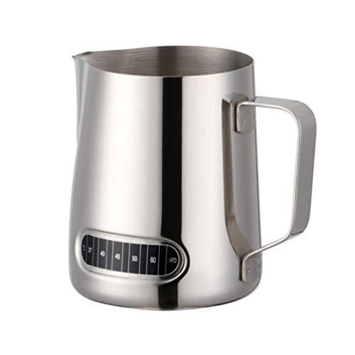 Espresso Dampfende Milch (Milchschaumkrug Edelstahl 20Oz Wearable Espresso Dampfschaum Tasse für Latte Cappuccino Art Espressomaschinen)