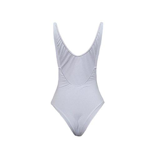 Vestito senza bretelle senza bretelle sexy senza spalline del bikini del ballerino del Halter senza bretelle sexy di Tankini bianca