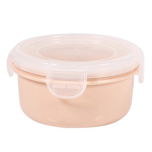 Gehäuse Kunststoff-Box cachetage-Kühlschrank-Behälter-Speicher-Nahrung rund/Küche Haus, rechteckig, mit der Deckel Ronde Rose (Safe-lock-mechanismus)