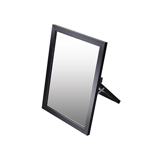 Spiegel Mit Regalen, Spiegel-Test, der Desktop Spiegel Spiegel, Spiegeloberfläche Bodentest Schuhen ( Farbe : Schwarz )