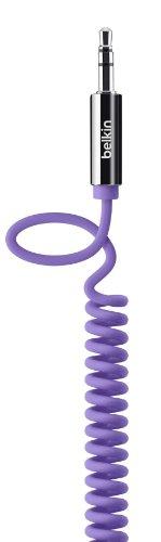 Belkin MixIt Audio-Spiralkabel (3,5mm auf 3,5mm Klinkenanschluss, 1,8m) lila -