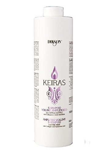 DIKSON KEIRAS VOLUME AMPLIFICATO SHAMPOO shampooing pour les cheveux fins avec le collagène et hyaluronique 1000 ml