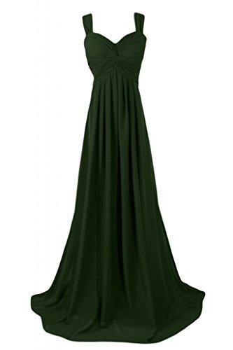Sunvary Graceful Empire Style-abiti da damigella d'onore Pageant Gowns abito da donna Dark Green