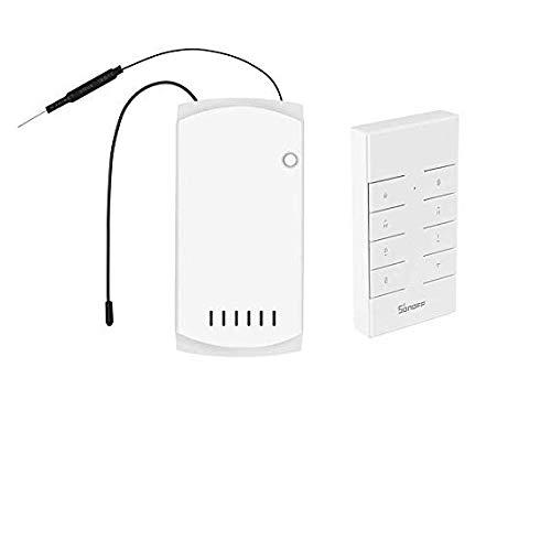 SONOFF iFAN03 RF Control remoto del ventilador RM433 Interruptor del ventilador de velocidad ajustable...