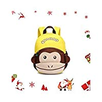 NOHOO Monkey Toddler Kids Backpack, Preschool Cartoon Backpack for 2-6 Years