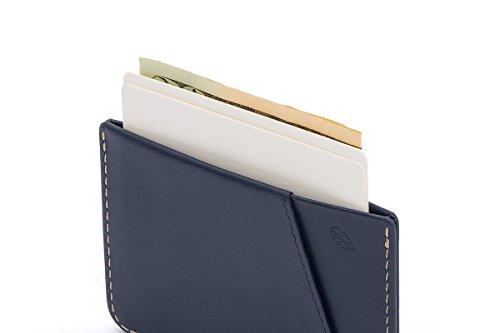 Bellroy Herren Leder Geldbörse Micro Sleeve, Farbe: Charcoal Blue Steel