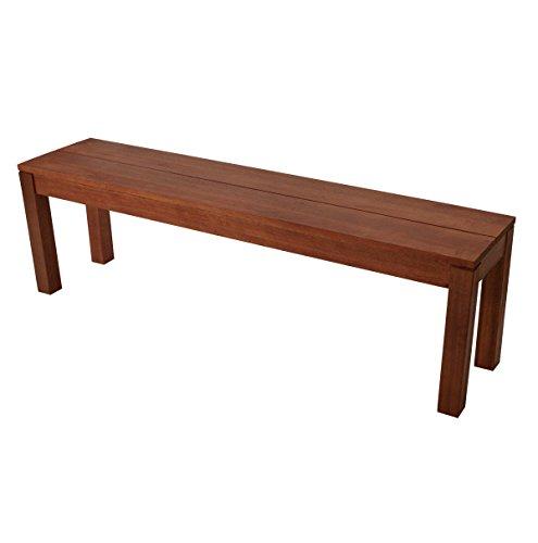 Hockerbank BRASILIA 150cm ohne Rückenlehne, Eukalyptus Hartholz, FSC®-zertifiziert