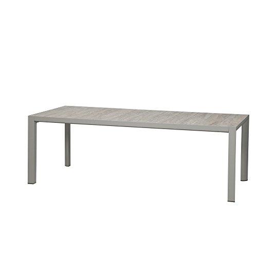 Siena Garden Silva Tisch, Silber matt, 220x100cm