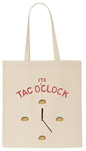 its-taco-oclock-burito-food-design-funny-tote-shopping-bag