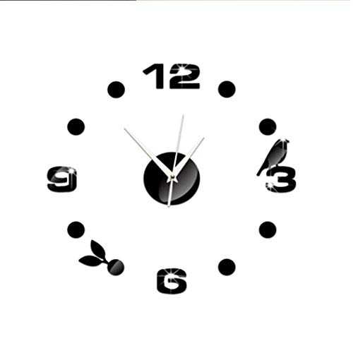 BESTEU Mute Moderno DIY sin Marco Reloj Pared Grande