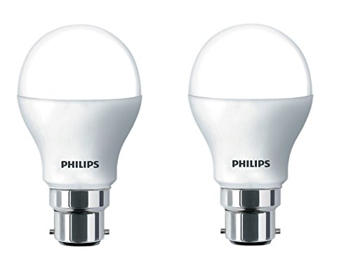 Philips Stellar Bright B22 14-Watt LED Bulb (Pack of 2, Cool Day Light)
