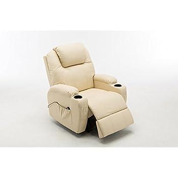 Relaxsessel mit liegefunktion  Fernsehsessel mit Massage, Heizung und Liegefunktion Kunstleder ...