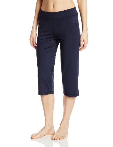 Danskin Damen Hose Crop Pants - Blau - Mittel Danskin Womens Crop