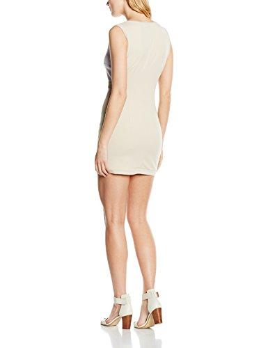 Olivia Abito Tubino Motivo Geometrico, Robe Femme multicolore (Bianco_Beige_Giallo)