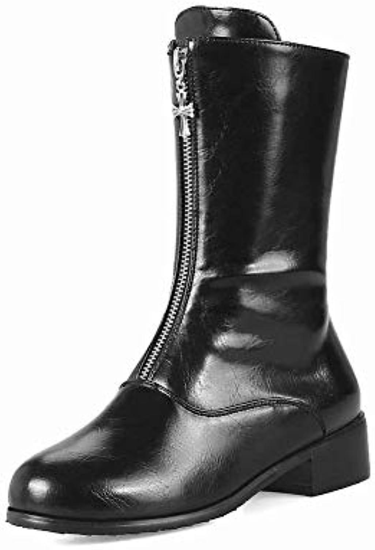 Zj Stivali S - di di di Alta qualità Testa rossoonda Tacco Basso Stivali Inverno Stivali Caldi Donne di Grandi Dimensioni... | Meraviglioso  | Uomini/Donne Scarpa  627368