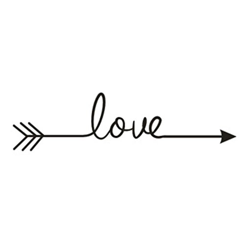 Longra Love Arrow Decal Dormitorio Sala de estar vinilo de talla pegatina de pared pegatina