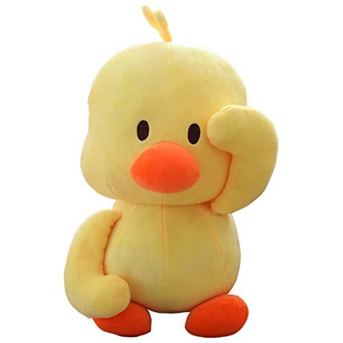 Duzhengzhou Dekoratives Kissen Kleine Gelbe Ente Kreative Ente Plüschtier Puppe Puppenkissen (lang 30cm) -