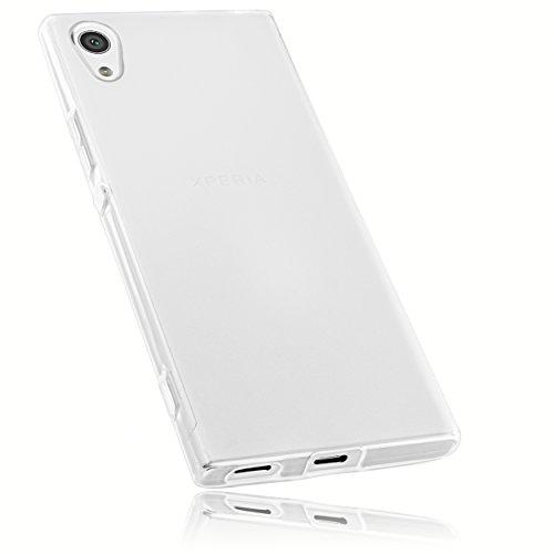 mumbi Schutzhülle für Sony Xperia XA1 Hülle transparent weiss