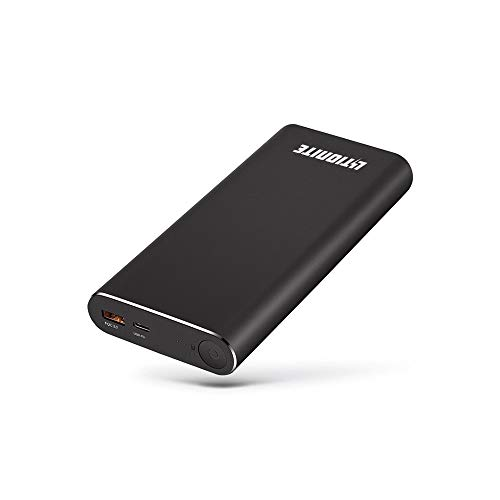 Litionite Vulcan 65W / 20000mAh Power Bank PD aus Aluminium - 1x USB Output (Quick Charge 3.0) - 1x USB Type-C Input & Output - Tragbare Externe Akku Ladegerät für MacBook/Laptop/Smartphone/Tablet
