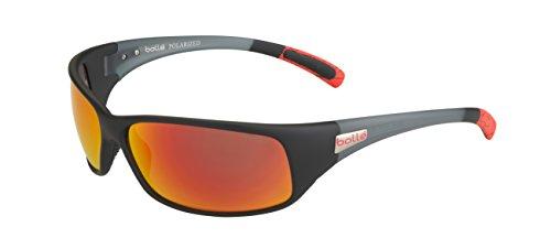 bollé Erwachsene Recoil Sonnenbrille, Black/Red, Large