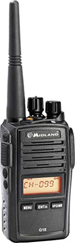 Midland Portable Radio PMR446 G18 Waterproof IP67 Code C1145