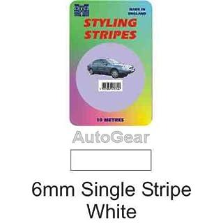 Styling Coachline White Pin Stripe Single 6mm 10 Metres Long White Tape