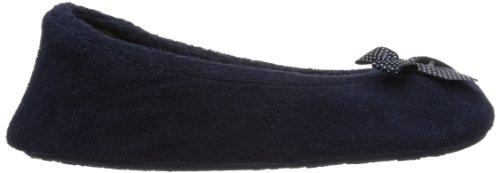 Isotoner  Stretch Terry, chaussons femme Bleu - Bleu marine