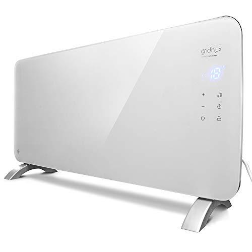 gridinlux. Homely WiFi Warm 1500W. Radiador Cristal Eléctrico, Calefacción Termostato, Convector Calor,...