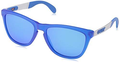 Ray-Ban Herren 0OO9428 Sonnenbrille, Schwarz (Matte Translucent Sapphire), 55