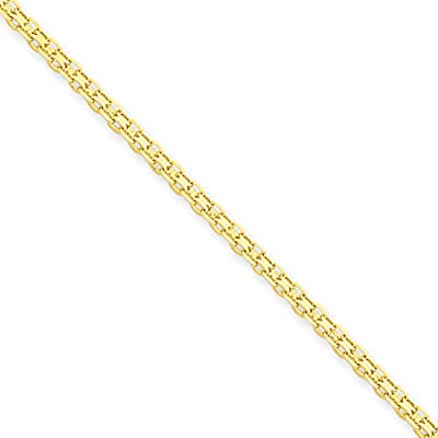 14 carat / 585 Yellow Gold Bismarck Chain Flat Width 2 mm. – Available in Different Lengths